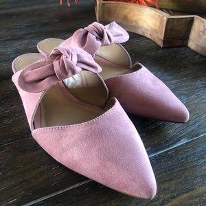 Loft Pink Knot Mules